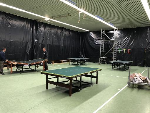 Schwarzlicht Turnier 2018 - Aufbau