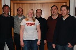 Der neue TTC-Vorstand mit Matthias Brosch, Knut Schütte, Ann-Katrin Thömen, Thomas Woll, Ingo Hilsmann und Marc Dunker.