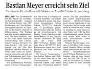 Zeitungsartikel Top 48 Bastian meyer